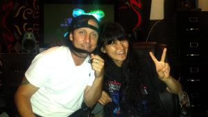 Miwa Recording Vocals at Rehab Studios with Big Chris Flores