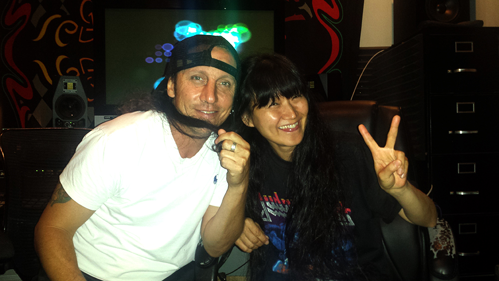Miwa Recording Vocals at Rehab Studios with Big Chris Flores